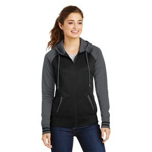 Sport-Tek� Ladies' Sport-Wick� Varsity Fleece Full-Zip Hooded Jacket