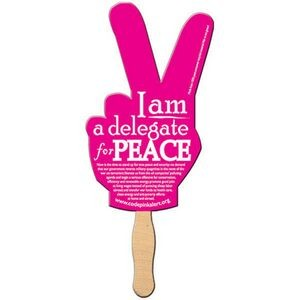Peace Sign Hand Fan