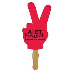 Peace Sign Fast Hand Fan (1 Side) 1 Day