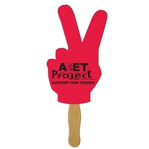 Peace Sign Auction Hand Fan Full Color